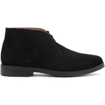 Scarpe Uomo Stivaletti Antica Cuoieria scarpe uomo polacchini 20973-A-VA3 AMALF NERO Pelle