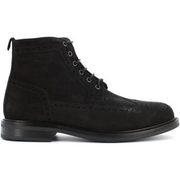 Scarpe Uomo Stivaletti Antica Cuoieria scarpe uomo stivaletti inglesina 20620-R-V68 VELOUR Pelle