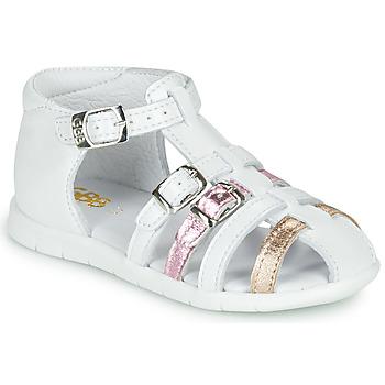 Scarpe Bambina Sandali GBB PERLE Bianco