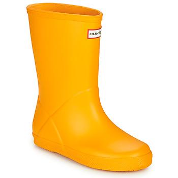 Scarpe Unisex bambino Stivali da pioggia Hunter KIDS FIRST CLASSIC Giallo