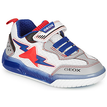 Scarpe Bambino Sneakers basse Geox J INEK BOY Bianco / Blu / Rosso