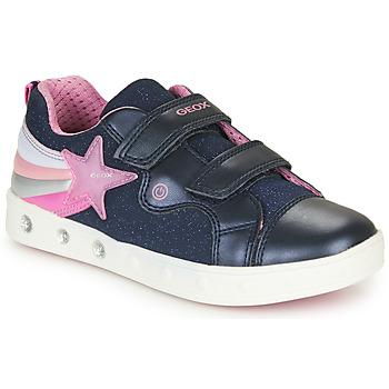 Scarpe Bambina Sneakers basse Geox J SKYLIN GIRL Marine / Rosa