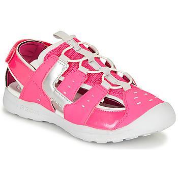 Scarpe Bambina Sandali sport Geox J VANIETT GIRL Rosa / Argento