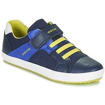Scarpe Bambino Sneakers basse Geox J GISLI BOY Marine / Giallo