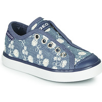 Scarpe Bambina Sneakers basse Geox JR CIAK GIRL Blu / Bianco