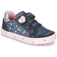 Scarpe Bambina Sneakers basse Geox B KILWI GIRL Blu / Rosa