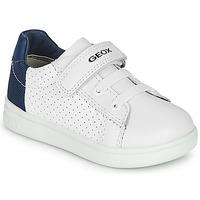 Scarpe Bambino Sneakers basse Geox B DJROCK BOY Bianco / Blu