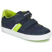 Scarpe Bambino Sneakers basse Geox B GISLI BOY Marine / Verde