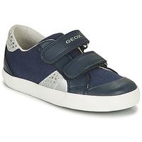 Scarpe Bambino Sneakers basse Geox GISLI GIRL Marine / Argento