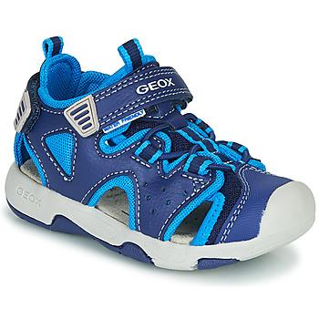 Scarpe Bambino Sandali sport Geox B SANDAL MULTY BOY Blu