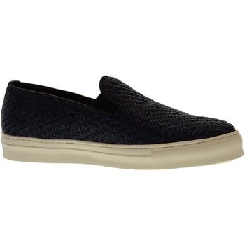 Scarpe Uomo Slip on Antica Cuoieria scarpe uomo slip on 20123-I-V06 INTRECCIO KIRA BLU Pelle