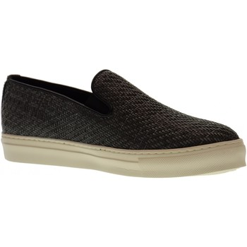 Scarpe Uomo Slip on Antica Cuoieria scarpe uomo slip on 20123-I-V06 INTRECCIO KIRA GRIGIO Pelle