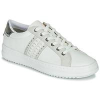 Scarpe Donna Sneakers basse Geox D PONTOISE Bianco / Argento