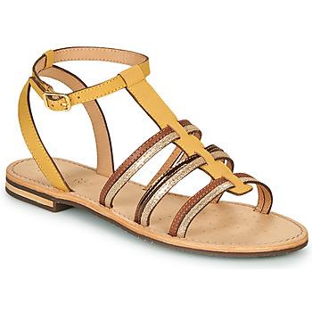 Scarpe Donna Sandali Geox D SOZY Giallo / Marrone / Oro