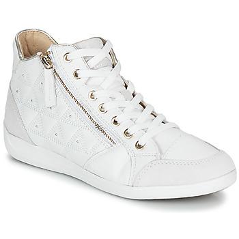 Scarpe Donna Sneakers alte Geox D MYRIA Bianco