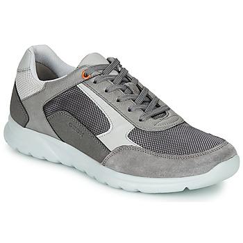 Scarpe Uomo Sneakers basse Geox U ERAST Grigio / Bianco / Arancio