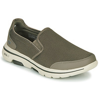 Scarpe Uomo Slip on Skechers GO WALK 5 Kaki