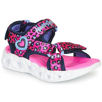 Scarpe Bambina Sandali sport Skechers HEART LIGHTS Rosa / Nero