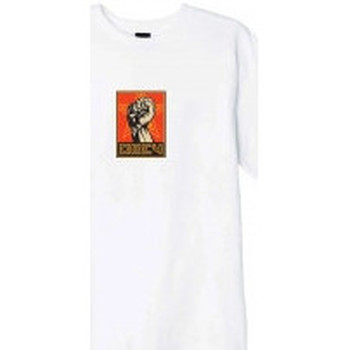 Abbigliamento Uomo T-shirt maniche corte Obey T-Shirt Fist 30 Years - White Bianco