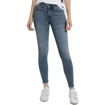 Abbigliamento Donna Jeans skynny Lois Jean denim Blue-Lue Ankle High 960 Blu