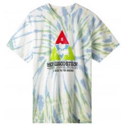 Abbigliamento Uomo T-shirt maniche corte Huf X WOODSTOCK T-Shirt Peaking - Blue Multicolore