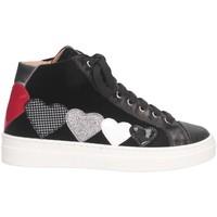 Scarpe Bambina Sneakers alte Romagnoli 4702-801 Sneakers Bambina Nero Nero