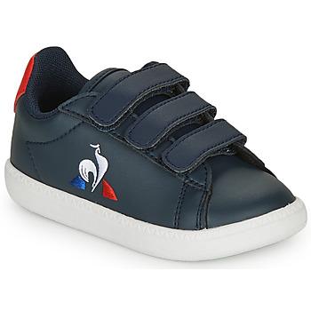Scarpe Unisex bambino Sneakers basse Le Coq Sportif COURTSET INF Marine / Rosso