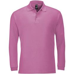 Abbigliamento Uomo Polo maniche lunghe Sols WINTER 2 CASUAL MEN Rosa