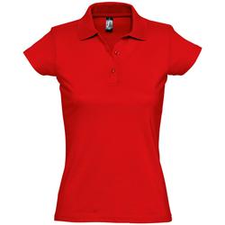 Abbigliamento Donna Polo maniche corte Sols PRESCOTT CASUAL DAY Rojo