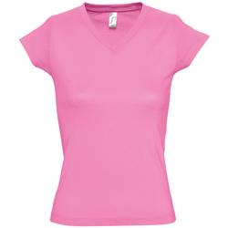 Abbigliamento Donna T-shirt maniche corte Sols MOON COLORS GIRL Rosa