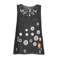 Abbigliamento Donna Top / T-shirt senza maniche Desigual TEBAS Nero