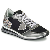 Scarpe Donna Sneakers basse Philippe Model TROPEZ X Nero / Argento