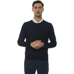 Abbigliamento Uomo Maglioni Hugo Boss Pullover girocollo Blu Lana Uomo blu