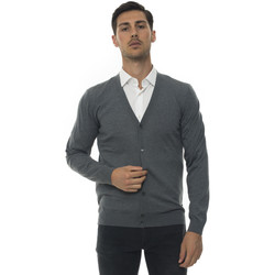 Abbigliamento Uomo Gilet / Cardigan Hugo Boss Cardigan bottoni Grigio medio Lana Uomo grigio medio