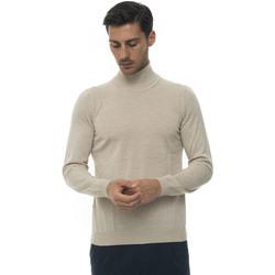Abbigliamento Uomo Maglioni Hugo Boss Pullover collo alto Beige Lana Uomo beige