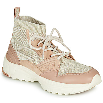 Scarpe Donna Sneakers alte Coach C245 RUNNER Rosa / Nude / Argento