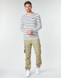 Abbigliamento Uomo Pantalone Cargo Deeluxe TROPERY Kaki