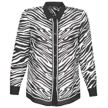 Abbigliamento Donna Camicie Ikks BQ12105-03 Nero / Bianco