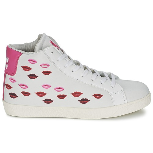 American College KISS KISS KISS KISS Bianco / Rosso  Scarpe Sneakers alte Donna 63,20 39352c