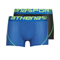 Biancheria Intima  Uomo Boxer Athena AIR PERFORMANCE PACK X2 Nero / Blu