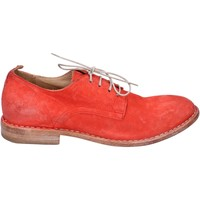 Scarpe Donna Derby Moma classiche camoscio rosso