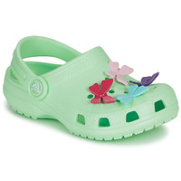 Scarpe Bambina Zoccoli Crocs CLASSIC BUTTERFLY CHARM CLG PS Verde / Clair