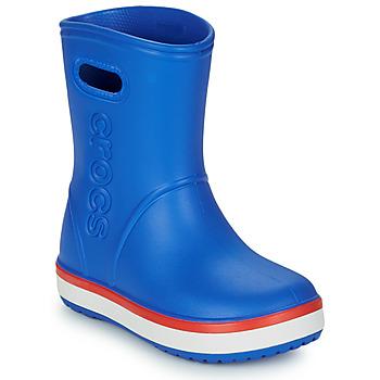 Scarpe Unisex bambino Stivali da pioggia Crocs CROCBAND RAIN BOOT K Blu / Rosso