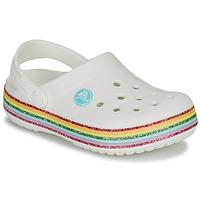 Scarpe Bambina Zoccoli Crocs CROCBAND RAINBOW GLITTER CLG K Bianco