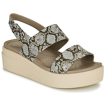 Scarpe Donna Sandali Crocs CROCS BROOKLYN LOW WEDGE W Python
