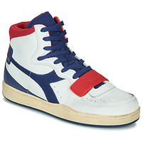 Scarpe Uomo Sneakers alte Diadora MI BASKET USED Bianco / Blu / Rosso