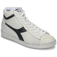 Scarpe Sneakers alte Diadora GAME L HIGH WAXED Bianco / Nero