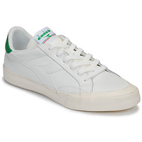 Scarpe Donna Sneakers basse Diadora MELODY LEATHER DIRTY Bianco / Verde