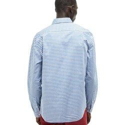 Abbigliamento Uomo Camicie maniche corte Lacoste Camicia Uomo Mini Quadretti Azzurro