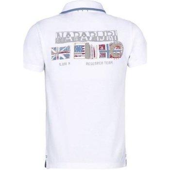 Abbigliamento Unisex bambino Polo maniche corte Napapijri Polo Bambino K Elmonte Bianco